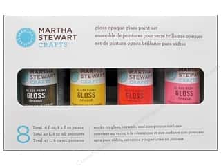 Outdoors Stains: Martha Stewart Glass Paint by Plaid Opaque Gloss Set 8 pc.