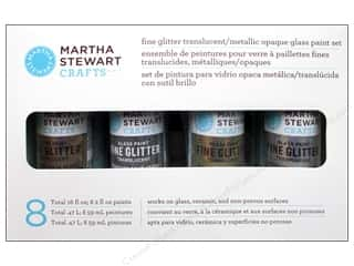 Glasses Sale: Martha Stewart Glass Paint by Plaid Fine Glitter Set 8 pc.