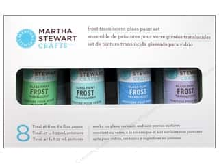 Glasses Martha Stewart Glass Paintable by Plaid: Martha Stewart Glass Paint By Plaid Set Frosts 8pc