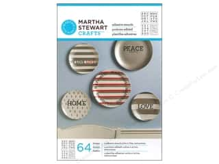 Martha Stewart Stencil Adh Glass Type Alpha