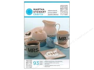 Stencils Glass: Martha Stewart Stencils by Plaid Adhesive Glass Bold Sans Alphabet