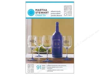 Stencils Glass: Martha Stewart Stencils by Plaid Adhesive Glass Bold Serif Alphabet