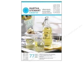 Stencils Glass: Martha Stewart Stencils by Plaid Adhesive Glass Italic Script Alphabet