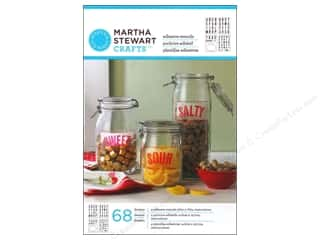 Stencils $6 - $7: Martha Stewart Stencils by Plaid Adhesive Glass Condensed Sans Alphabet
