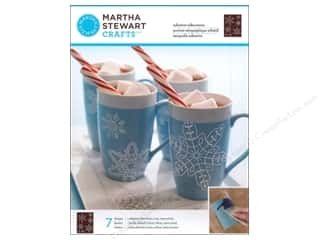 Martha Stewart Crafts Winter Wonderland: Martha Stewart Silkscreen by Plaid Glass Snowflakes