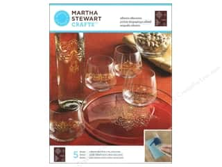 Martha Stewart Silkscreen Glass Ornate Accents