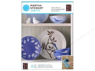 Martha Stewart Silkscreen Glass Birds And Branches