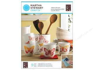 Martha Stewart Silkscreen Glass Butterflies