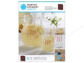 Glass ABC & 123: Martha Stewart Silkscreen by Plaid Glass Elegant Alphabet