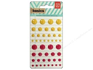 BasicGrey Candy Button Stickers Basics Orange & Pink