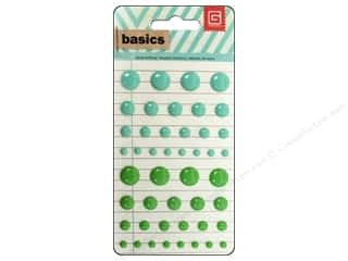 BasicGrey Candy Button Stickers Basics Aqua & Green