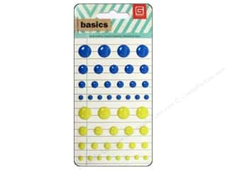 BasicGrey Candy Button Stickers Basics Blue & Yellow