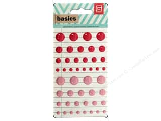 BasicGrey Candy Button Stickers Basics Red & Pink