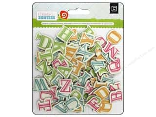 chipboard letters: BasicGrey Sticker Chipboard Alpha KneeHigh BowTies