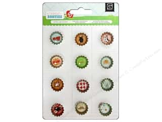 Clearance Paper Accents Bottle Caps: BasicGrey Bottle Cap Stickers Bow Ties