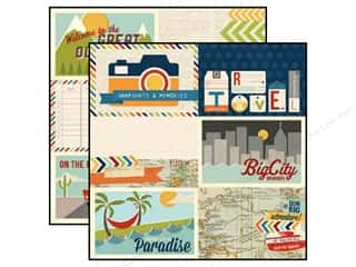 Simple Stories Papers: Simple Stories Paper12 x 12 in. Urban Traveler 4 x 6 in. Journaling Card Elements (25 pieces)
