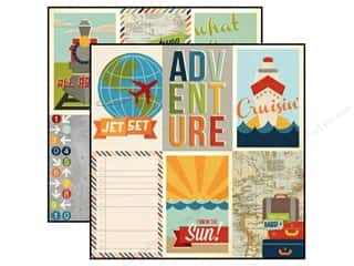 Simple Stories Paper 12 x 12 in. Urban Traveler Cards (25 piece)