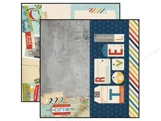 Simple Stories Paper 12 x 12 in.Traveler 6 x 12 in. Page (25 piece)