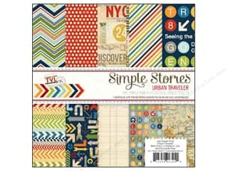 Simple Stories Paper Pad 6 x 6 in. Urban Traveler