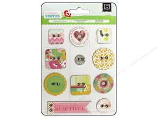 BasicGrey Chipboard Buttons 11 pc. Knee Highs