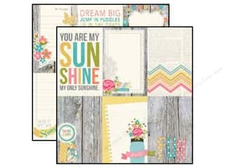 Simple Stories Paper 12 x 12 in. Vintage Bliss Vertical Journaling (25 piece)