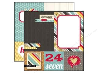 "Borders $4 - $8: Simple Stories Paper 12""x 12"" 24/Seven 4""x 4"" Quote/6""x 8"" Photo Mat Elements (25 pieces)"