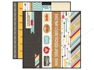 Simple Stories Paper 12x12 24/Seven Border/Title (25 piece)