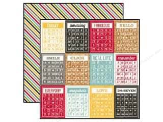 Simple Stories Paper 12x12 24/Seven Bingo Cards (25 piece)
