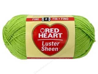 sport yarn: Red Heart LusterSheen Yarn 3.5 oz. Lime