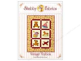 "Books & Patterns 12"": Shabby Fabrics Vintage Toybox Pattern"