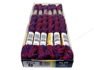 Threads $5 - $7: DMC Pearl Cotton Variations Size 5 #4212 Mixed Berries (6 skeins)