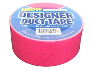 Just For Laughs Neon: Duct Tape Neon Pink Nail Polish 20 yd.