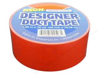 Duct Tape Neon Orange Splash 20 yd.