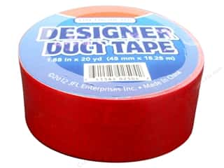 Office Tapes: Duct Tape Fire Engine Red 20 yd.