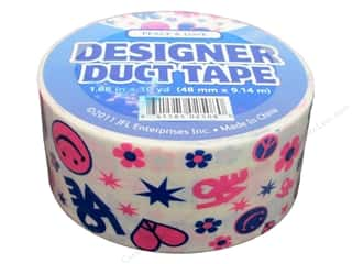 Flowers Back To School: Designer Duct Tape Peace & Love 10 yd.