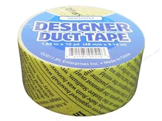 Just For Laughs Black: Designer Duct Tape Newspaper 10 yd.