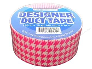 Just For Laughs: Designer Duct Tape Pink Houndstooth 10 yd.