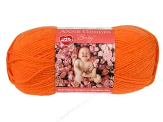 Clearance Red Heart Designer Sport Yarn: Red Heart Anne Geddes Baby Yarn Tangerine 3.5 oz.