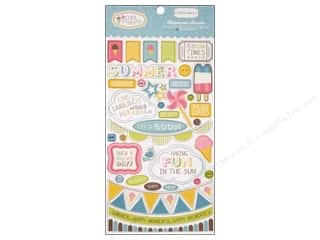 theme stickers  summer: Carta Bella Chipboard 6x12 Cool Summer