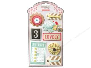 Crate Paper Dimensional Stickers: Crate Paper Stickers DIY Shop Layered