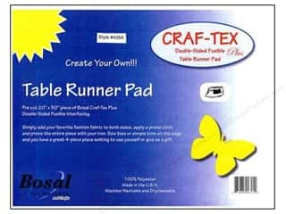 Iron-On Interfacing / Iron-On Stabilizer: Bosal Craf-Tex Plus 20 x 50 in. Table Runner Pad