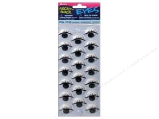 Eyes Doll Making: Googly Eyes by Darice Sticky Back 18 mm Printed with Lashes 20 pc.