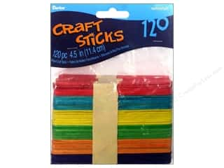 Darice Wood Craft Sticks 4 1/2 in. 120 pc. Colored