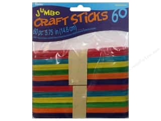 Kid Crafts $5 - $10: Darice Wood Craft Sticks 5 3/4 in. 60 pc. Colored