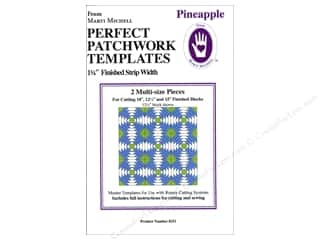 Michell Marketing Quilt Books: Marti Michell Ruler Perfect Patchwork Template Pineapple 1.25 in. Finished