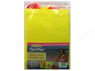 Cross Stitch Cloth / Aida Cloth Aida Pre Finished Items: Charles Craft Bright Ideas Shoulder Bag Lemon Twist