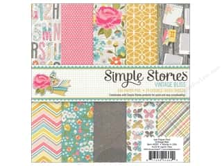 "Floral Arranging ABC & 123: Simple Stories Paper Pad 6""x 6"" Vintage Bliss"