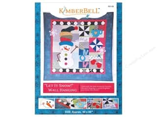 Bareroots Home Decor Patterns: Kimberbell Designs Let It Snow Wall Hanging Pattern