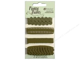 Petaloo Fancy Trims 4yd Assorted Shades of Green