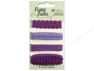 Petaloo Fancy Trims 4yd Assorted Shades of Purple